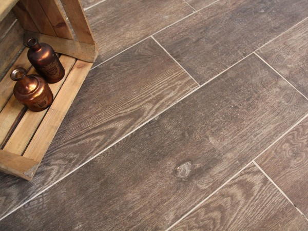 "Keramik Verbundplatten ""Drain"" - Antique Oak Brown"